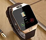 JIKRA Certified Bluetooth Smart Watch GT08 Wrist Watch Compatible with All Smartphones with Camera & SIM Card Support (Golden)