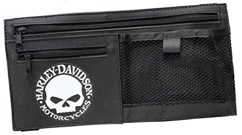 Harley-Davidson Willie G Skull Car Visor Organizer Adjustable Closure Black 6198