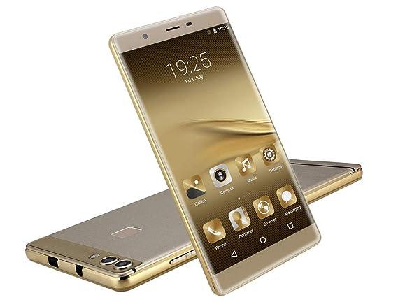 Smartphone JYC Teléfono Celular Quad Core Desbloqueado de 6 Inch Android 5.1 Smartphone IPS gsm GPS 3G Teléfono Celular AT (Oro): Amazon.es: Electrónica