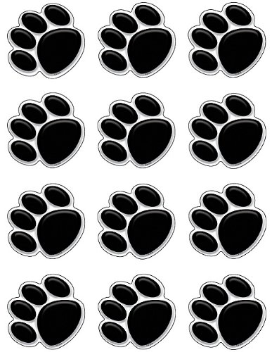 Teacher Created Resources Mini Accents, Black Paw Prints (5118) ()