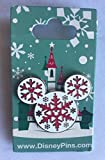 #7: Disney Pin 118465 Mickey Icon - Snowflakes Pin Holiday Christmas Pin
