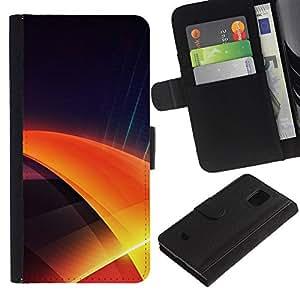 A-type (Azul swil) Colorida Impresión Funda Cuero Monedero Caja Bolsa Cubierta Caja Piel Card Slots Para Samsung Galaxy S5 Mini (Not S5), SM-G800