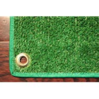 Outdoor Turf Rug / Aisle Runner – 4x25 Green – Artificial Grass with Premium BOUND Nylon Edges and Grommits. 8 Oz. - 100% UV olefin. Light Weight Marine Back. Many Custom Sizes & Shapes Available