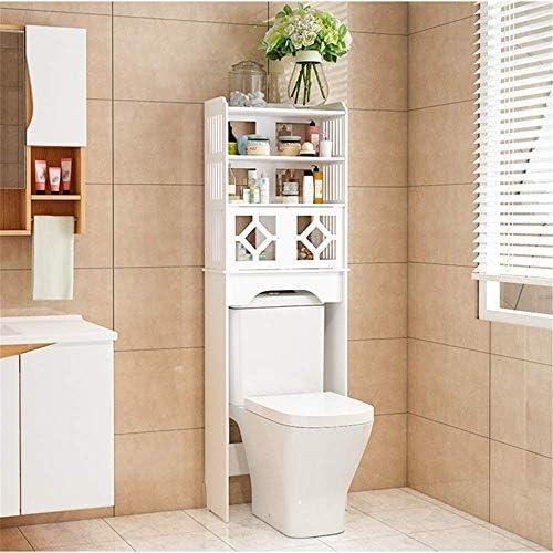 BXU-BG 二つのドアとトイレスペースセーバーバスルームオーガナイザーオーガナイザーストレージ浴室ストレージキャビネットオーバーシャワーキッチン&バス用収集キャビネットホワイト(カラー:ホワイト、サイズ:48 X 23 X 150センチメートル)