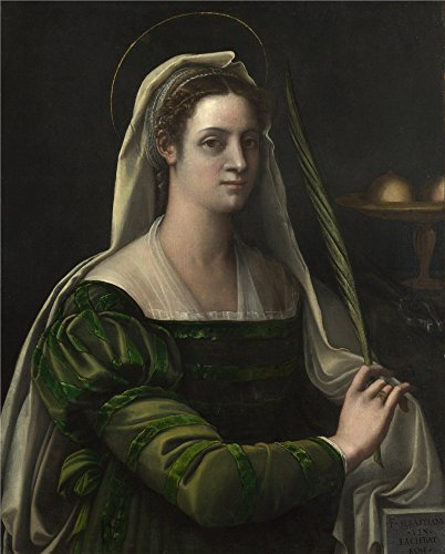 Oil Painting 'Sebastiano Del Piombo Portrait Of A Lady With The Attributes Of Saint Agatha ' Printing On Perfect Effect Canvas , 20 X 25 Inch / 51 X 63 Cm ,the Best Kids Room Gallery Art And Home Decor (Agatha Umbrella)