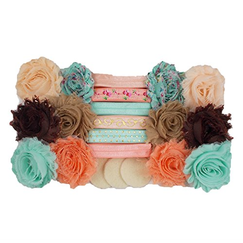 UPC 740647672832, Peachy Keen - Mini DIY Headband Kit - Makes 12 Single or 6 Double Headbands - Baby Shower Headband Station - Fashion Headbands for Birthday Party & Baby Shower Games