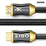 HDMI 2.0 Cable 6 ft- Professional Series 4K High Speed HDMI 2.0 Ready (4K 60Hz 4:4:4) HDR HDCP 2.2 - Ethernet/Audio Return Channel,Gold Plated Connectors Ultra HD (18Gbps) (24AWG(6 FEET))