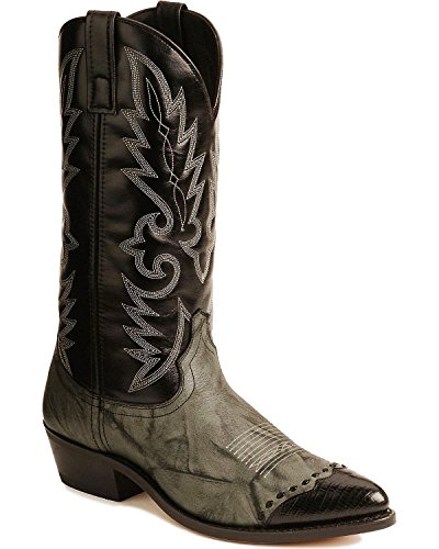 Laredo Men's Flagstaff Western Boot,Grey/Black,12 D US Western Style Boots