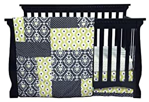 Trend Lab Waverly Rise and Shine Crib Bedding Set, Black/White, 3 Piece