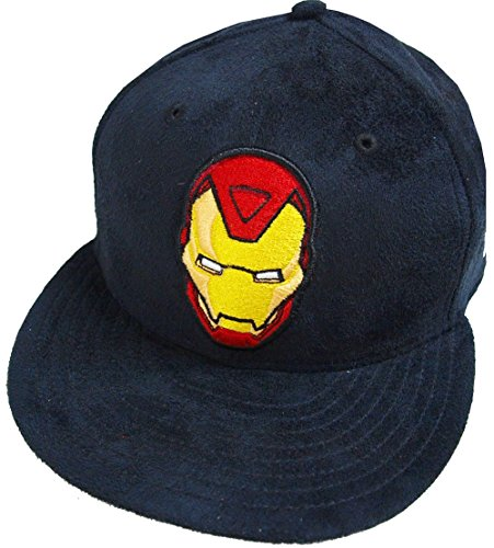 - New Era Ironman Black Suede Marvel DC Cap 59fifty 5950 Fitted Basecap Kappe Men Special Limited Edition