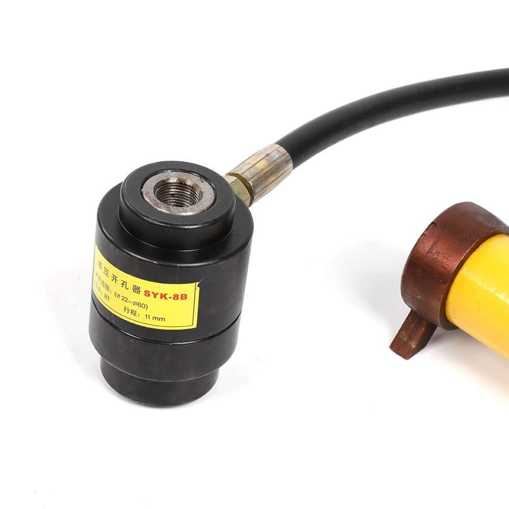 kit de herramientas de punzonado de cuero para juntas juego de abridor de agujeros de acero inoxidable de 22~60 mm con 6 matr perforadora hidr/áulica de perforaci/ón SYK-8B Juego de punzonado hueco
