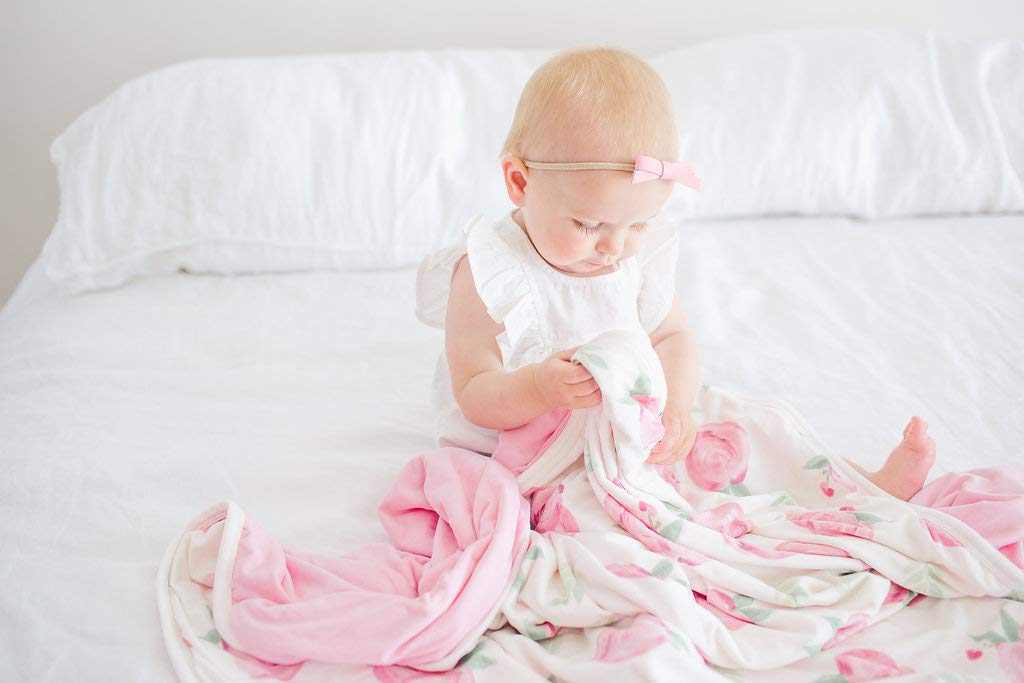 Large Premium Knit Baby 3 Layer Stretchy Quilt Blanket''Grace'' by Copper Pearl by Copper Pearl (Image #3)