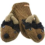 Old Glory - Unisex-adult Bill The Bison Knit Mittens Brown