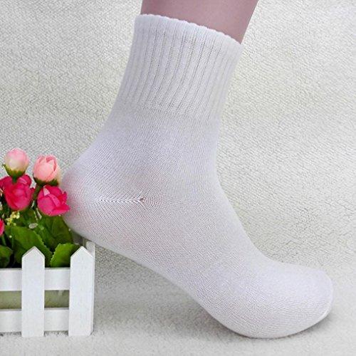 Adeshop D'affaires Qualité Des Paires Couleur 1 Respirant Occasionnelles Chaussettes Haute Exercice Blanc De Tubulaires Coton Hommes Pure Homme rnqCrxw7z8