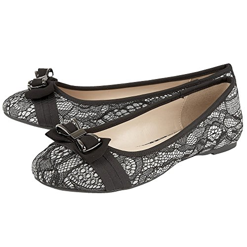 Lotus Pewter Mujer Shayna Negro Zapatos aHcpqAP