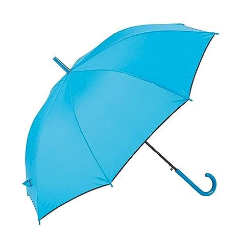 GOTTA Paraguas Largo de Mujer, antiviento y automático con puño Curvo. Tejido Liso -