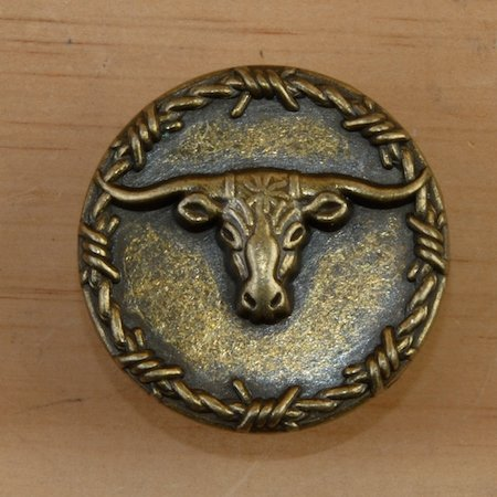 Texas Longhorn Steer Set of 8 Cabinet Knobs - Three Colors Available (Antique Bronze)