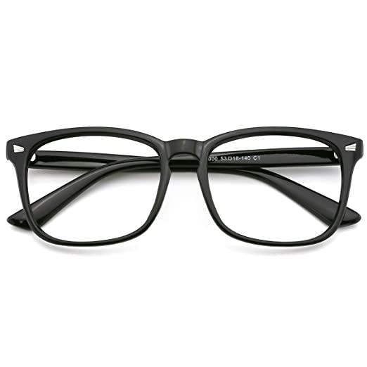 ea6f31556638 Image Unavailable. Image not available for. Color  Slocyclub Vintage Nerd  Square Eyeglasses Frame Keyhole Design Non Prescription Lens Glasses for Women  Men