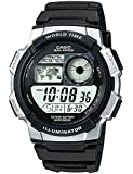 CASIO Men's Quartz Watch with Grey Dial Digital Display and Black Resin Strap AE-1000W-1A2VEF