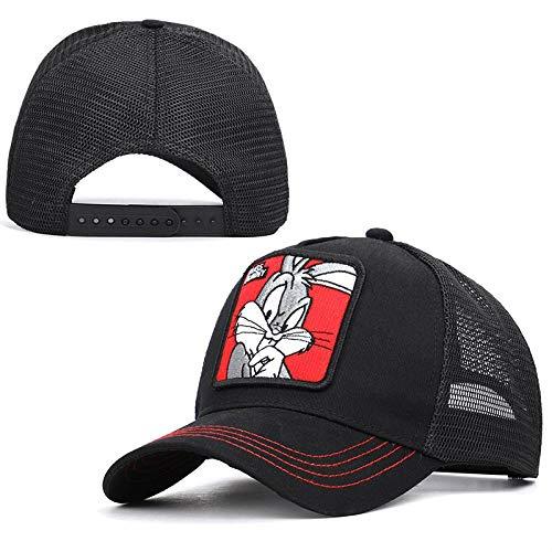 New Spring Summer Mesh Baseball Cap Women Men Fashion Animal Black-Bugs-Bunny