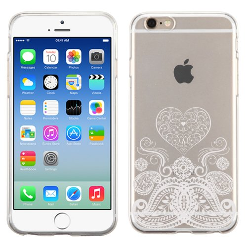 PhoneTatoos (TM) For iPhone 5S Paisley Heart Transparent Clear Candy Skin Cover (Paisley Heart - Ipod Candy Nano Hard