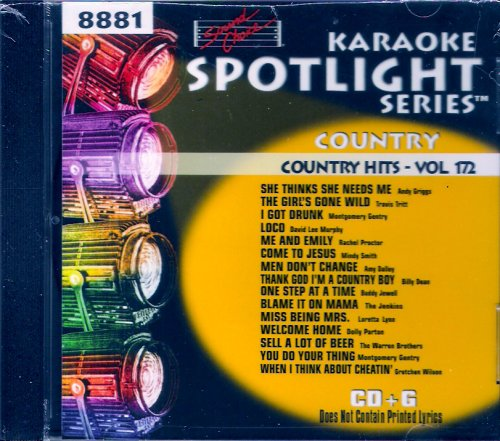 Sound Choice Spotlight Karaoke Country Hits Vol. 172 (Karaoke Sound Choice Spotlight)