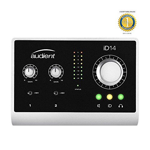 Recording Bus Console 8 (Audient iD14 10-in/4-out USB Desktop Audio Interface with 1 Year EverythingMusic Extended Warranty Free)