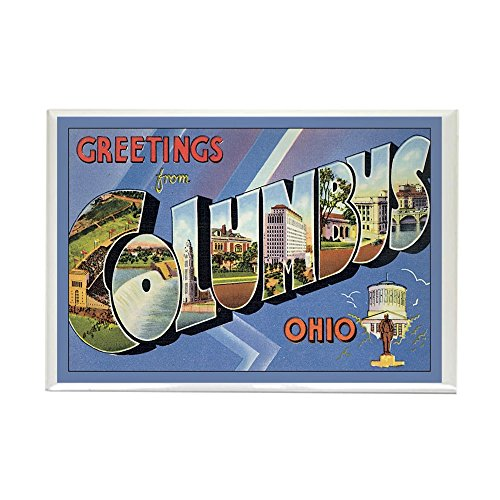 CafePress - Columbus OH Postcard Rectangle Magnet - Rectangle Magnet, 2
