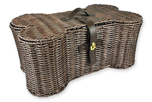 DII Bone Dry Large Wicker-Like Bone Shape Storage Basket, 24x15x9