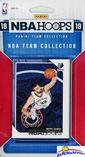 Grizzlies Card - Memphis Grizzlies 2018/2019 Panini Hoops NBA Basketball EXCLUSIVE Factory Sealed Limited Edition 8 Card Team Set with Mike Conley,Marc Gasol, MarShon Brooks, Jaren Jackson Jr RC & Many More! WOWZZER!
