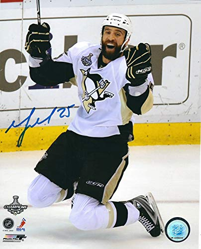 (Autographed Max Talbot 8x10 Pittsburgh Penguins Photo)