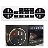 #4: YIFAT AC Dash Button Repair Kit Replacement Decal Stickers for GM Vehicles, Denali, Acadia, Tahoe, Silverado, Escalade, Buick Enclave - Fix Ruined Faded A/C Control