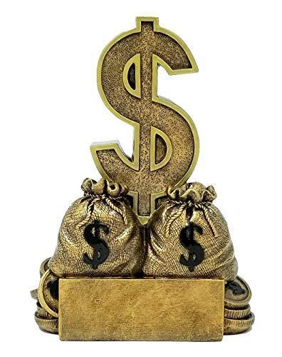 Amazon com : Decade Awards Dollar Sign Trophy - Sales or Fundraising