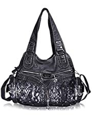 Damen-Handtasche im Hobostil, ger?umig, mehrere F?cher, Schultertasche, modisch, PU, Totebag, Umh?ngetasche für Damen