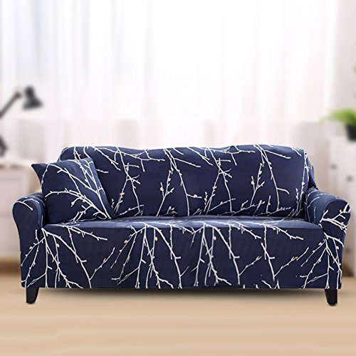 FORCHEER Couch Covers 1-Piece Stretch Printed Sofa Slipcover Polyester Spandex Loveseat Cover Sofa Chair Cover (Printed #2,4 Seat for 220-290cm)