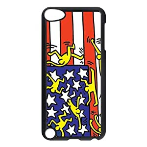 Customize Generic Hard Plastic Shell Phone Cover Keith Haring Back Case Suitable For iPod 5 Touch 5th Generation