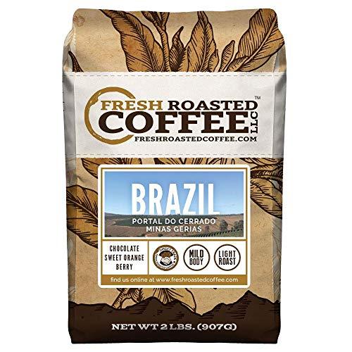 Fresh Roasted Coffee LLC, Brazilian Minas Gerais Coffee, Light Roast, Direct Trade, Whole Bean, 2 Pound - Brazil Fresh Coffee