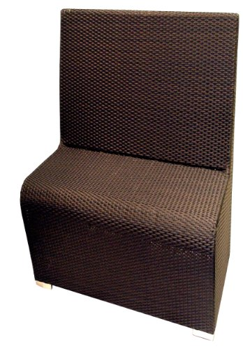 ATC Villa All-Weather Woven Wicker Deuce Booth, Expresso (Pack of 2) by American Trading Company