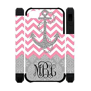 Zig Zag Pink Chevron Gray Anchor Gray Retro Pattern Personalized Custom Phone Case Zig Zag Best Cover Case For Iphone 4s