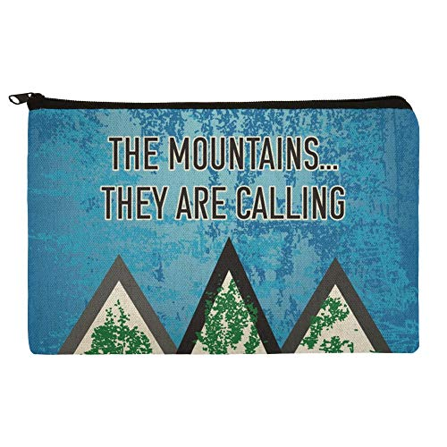 The Mountains They are Calling Hiking Nature Makeup Cosmetic Bag Organizer Pouch