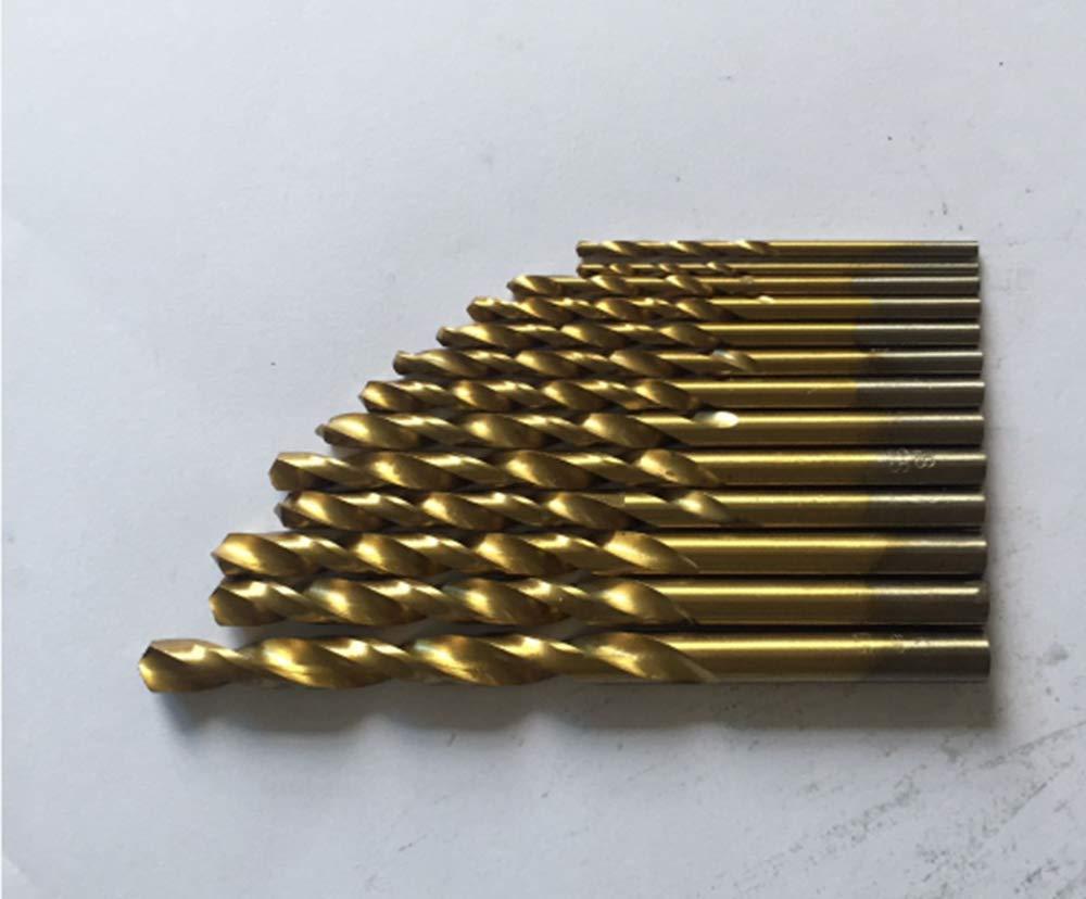 Ovovo Hex Shank Drill Bit Set 13pc Titanium Coated High Speed Steel Quick Change Design