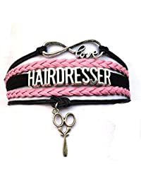 DOLON Infinity Love Hair Dresser or Styliest Bracelet Sissors Charm Career Job Wrap