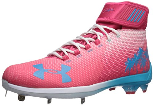 Under Armour Men's Harper 2 Mid ST-Limited Edition Baseball Shoe, Hollywood (640)/Flow, 8