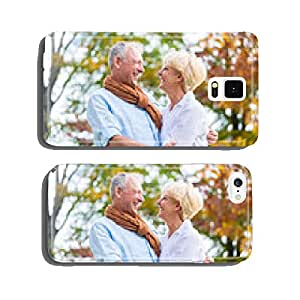 Senior couple taking a walk in autumn cell phone cover case iPhone6