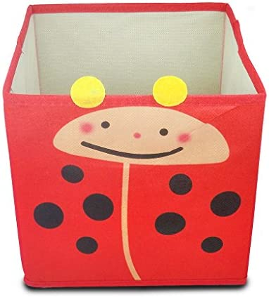 Bebé Niños Juguete Caja de almacenaje Animal ropa tela plegable organizador plegable, Red Ladybird, 1: Amazon.es: Hogar