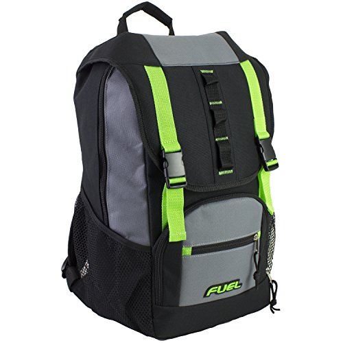 Fuel Shelter Backpack with Large Main Entry Compartment and Oversized Protective Flap, Unisex, One Size, Lime Sizzle