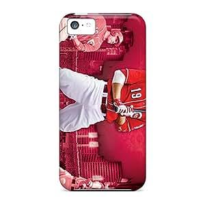 Perfect Hard Phone Case For Iphone 5c With Custom HD Cincinnati Reds Pattern InesWeldon
