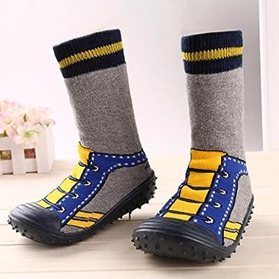 KONFA Toddler Baby Boys Girls Cartoon Striped Anti-Slip Socks,for 1-3.5 Years old,Indoor Floor Crib Premium Shoes: Clothing