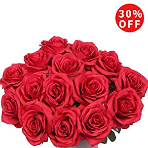 AmyHomie Artificial Flowers Silk Roses Bouquet Home Wedding Decoration 96