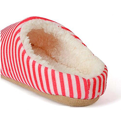 Indoor Women Men Shoes Red Winter Home Soft Warm Ankle House Slippers twxa0q